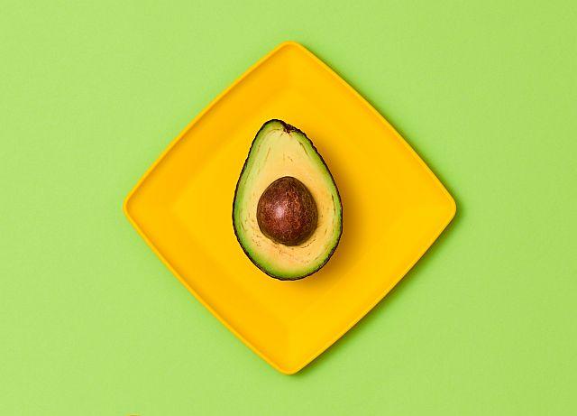 Avocado Tropical Fruit. Vegan Food Concept.Minimal
